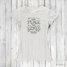 Make Peace With Words: Soft Fitted T-shirt (Choose Color) Uni-T