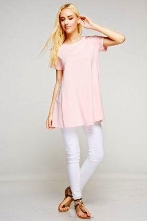 Pima Cotton Trapeze Tunic Dress : LIMITED Uni-T