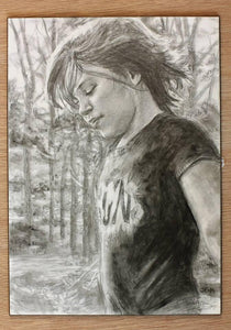 Charcoal or Pastel Portrait Drawing 11 X 14 Uni-T