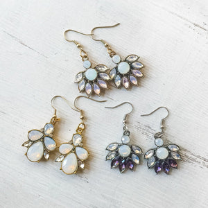 Crystal and Opalite Dangle Earrings Uni-T