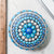 Large Hand Painted Mandala Stone - Blue Uni-T