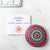 Small Hand Painted Mandala Stone - Red + Pink Uni-T