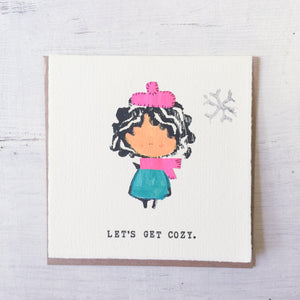 Let's Get Cozy Card Uni-T