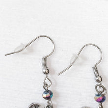 Live in the Moment Charm Earrings with Rainbow Glass Beads Uni-T