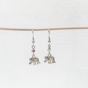Elephant Charm Earrings Uni-T