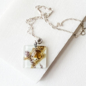 Recycled Fused Glass Necklaces - Square Uni-T