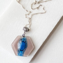 Recycled Fused Glass Necklaces - Hexagon Uni-T
