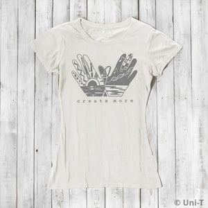CREATE MORE | Women's Art T shirts | Urban T-shirts | Bamboo Clothing