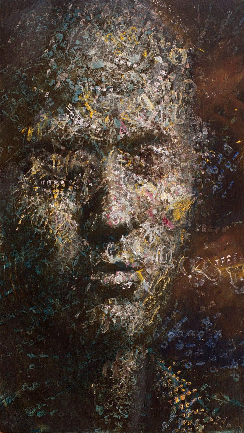 AutoGraphia, Oil on Panel 6 5/8