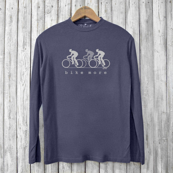 Bike More, Long Sleeve T-shirts for Men Uni-T