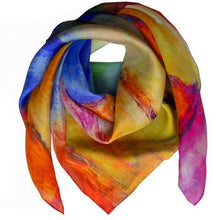 Square Silk Scarf - Blocks of Bliss Uni-T