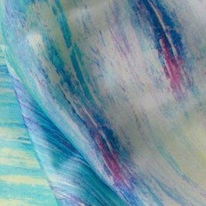 Oblong Silk Scarf - Blue Haven Uni-T
