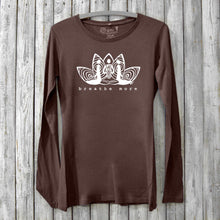 Breathe More, Long Sleeve T-shirt for Women Uni-T