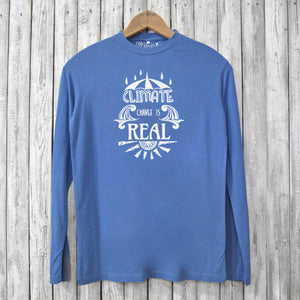 Climate Change Is Real, Long Sleeve T-shirts for Men Uni-T