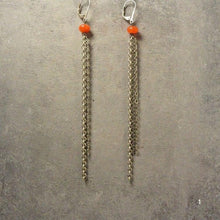 Extra Long Earrings with Semi Precious Stones Uni-T