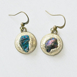 Raw Stone in Polymer Clay Earrings Uni-T