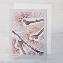 Imaginary Map Greeting Card Uni-T