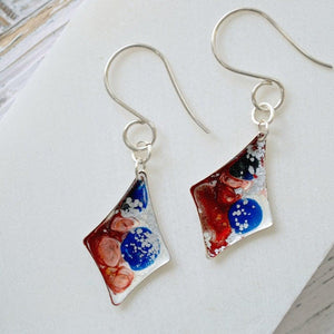 Kite Shape Enamel Earrings Uni-T