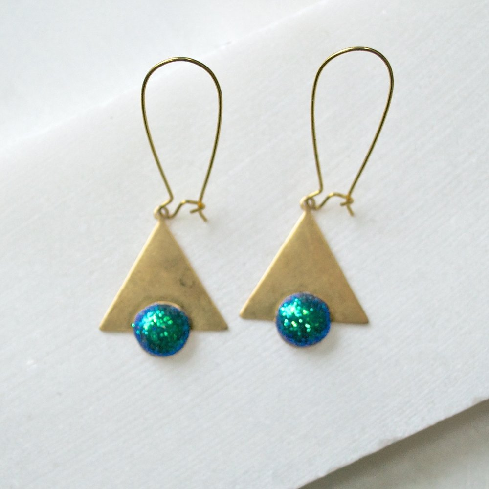 Vintage Findings & Polymer Clay Earrings Uni-T