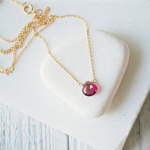Pink Tourmaline & Gold Fill Necklaces Uni-T