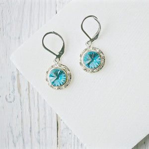Swarovski Crystal Earrings with Surgical Steel Ear Wire Uni-T
