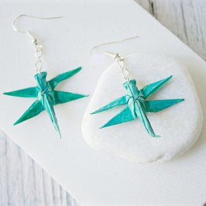 Origami Dragonfly Earrings Uni-T