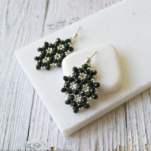 Czech Crystals & Seed Beads Earrings Uni-T