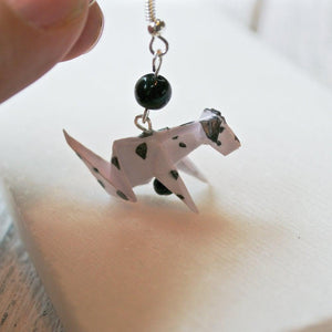 Origami Dog Earrings - Dalmatian Uni-T