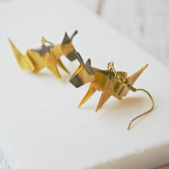 Origami Dog Earrings - German Shepherd Uni-T