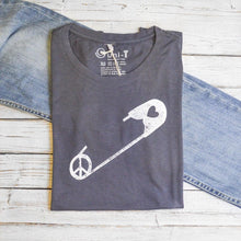 Safety Pin Shirt | Women's Peace T-shirt | Bamboo Clothing