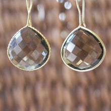 Gem Drop Earrings, Polished Quartz Earrings - Uni-T