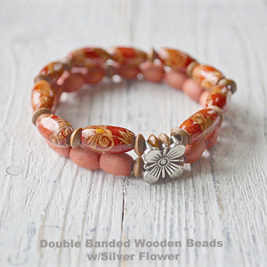 Wooden Stretch Beads Bracelets - Uni-T
