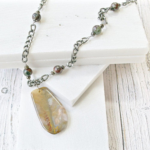 Jasper And Spinel Necklace - Uni-T