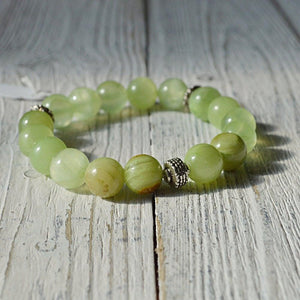 Flower Jade Stretch Beads Bracelets - Uni-T