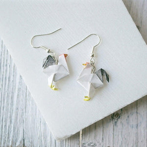 Origami Rooster Earrings Uni-T