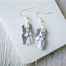 Origami Dog Earrings- Boston Terrier Uni-T
