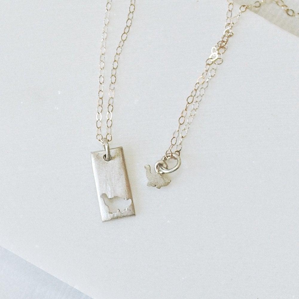 92d790bcc7f Mother Daughter Necklace Set, Sterling Silver Charm Necklaces Uni-T
