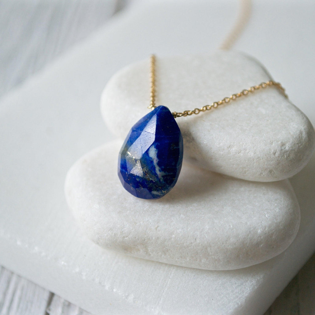Lapis & Gold Fill Necklace Uni-T