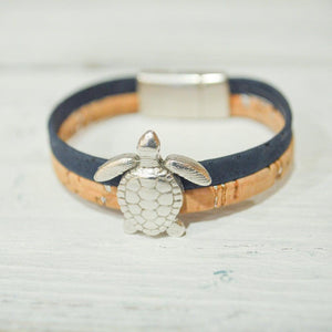Cork Bracelets with Turtle, Cross, Rectangle Charms | Eco-friendly Jewelry Uni-T