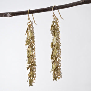 Droopy Leafy Earrings Uni-T
