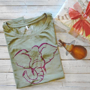 Women's Elephant Shirt |  Bamboo Shirts | Organic Cotton Clothing
