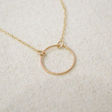 Ring on Thin Gold Fill Chain Uni-T