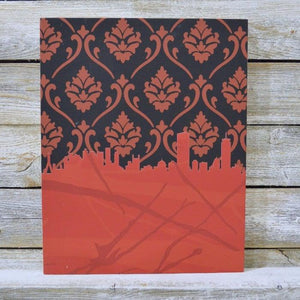 Boston Skylines Original Wall Art - Laser Cut Wallpaper 8X10 Uni-T