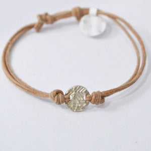 Precious Metal Clay Silver or Bronze Button Slip Knot Bracelets Uni-T