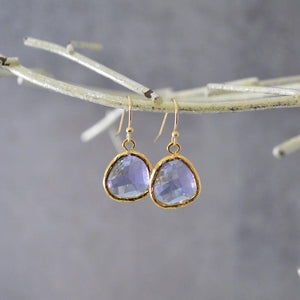 Mini Gem Drop Earrings - Gold Base Uni-T