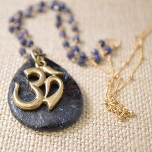 long-om-necklace-lolite-gold-filled-chain