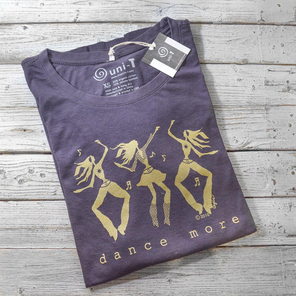 6b884dafc DANCE MORE | Dancers T-shirt | Womens Long Sleeve Graphic Tee | Fitted Scoop