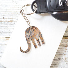 Silver Plated Vintage Fork Elphant Keychain Uni-T