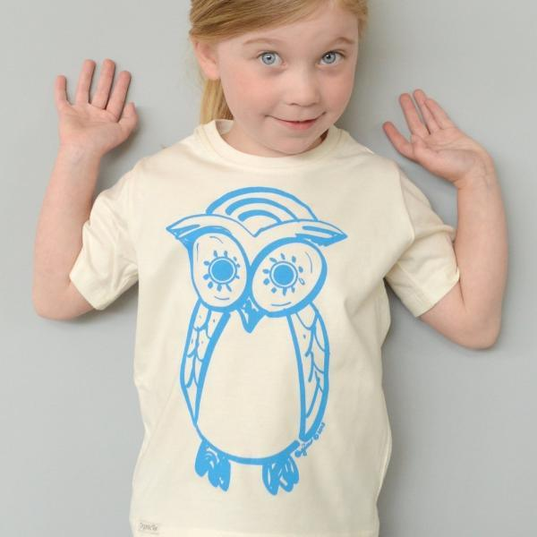 OWL Organic Cotton T-shirt for Kids Uni-T