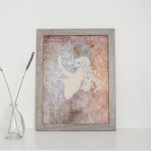 Original Framed Lovers Painting 9X12 Uni-T